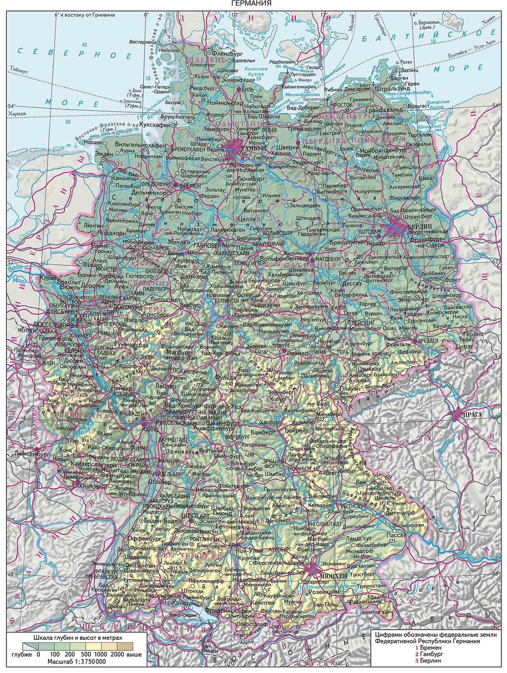 Германия на карте картинка